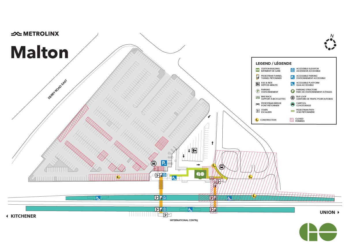 Malton GO Construction Map