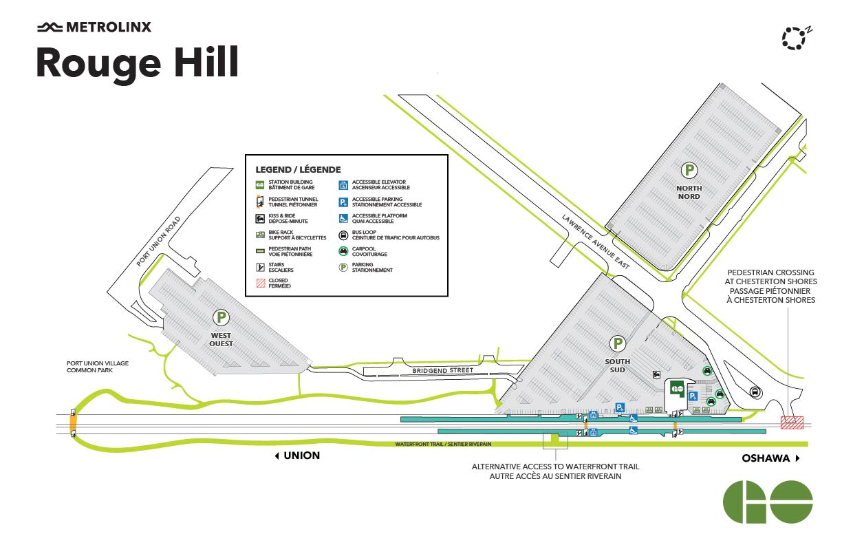 Rouge Hill GO Map