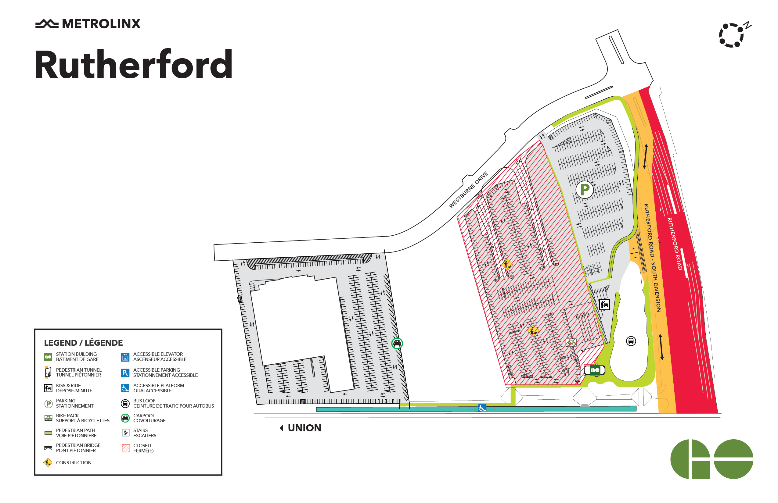 Rutherford GO map