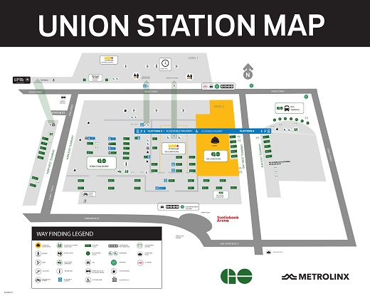 Carte de construction de la gare Union