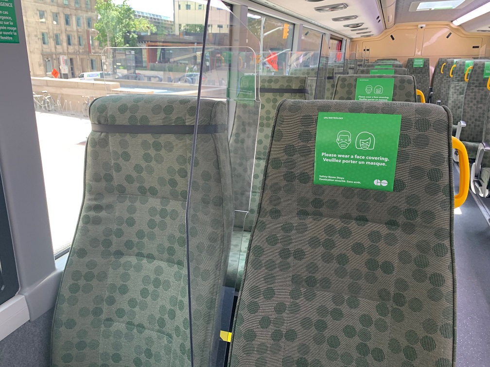 Plexi-glass seat dividers