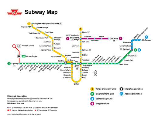 Subway Map Ttc.Connecting With Ttc During A Go Service Disruption