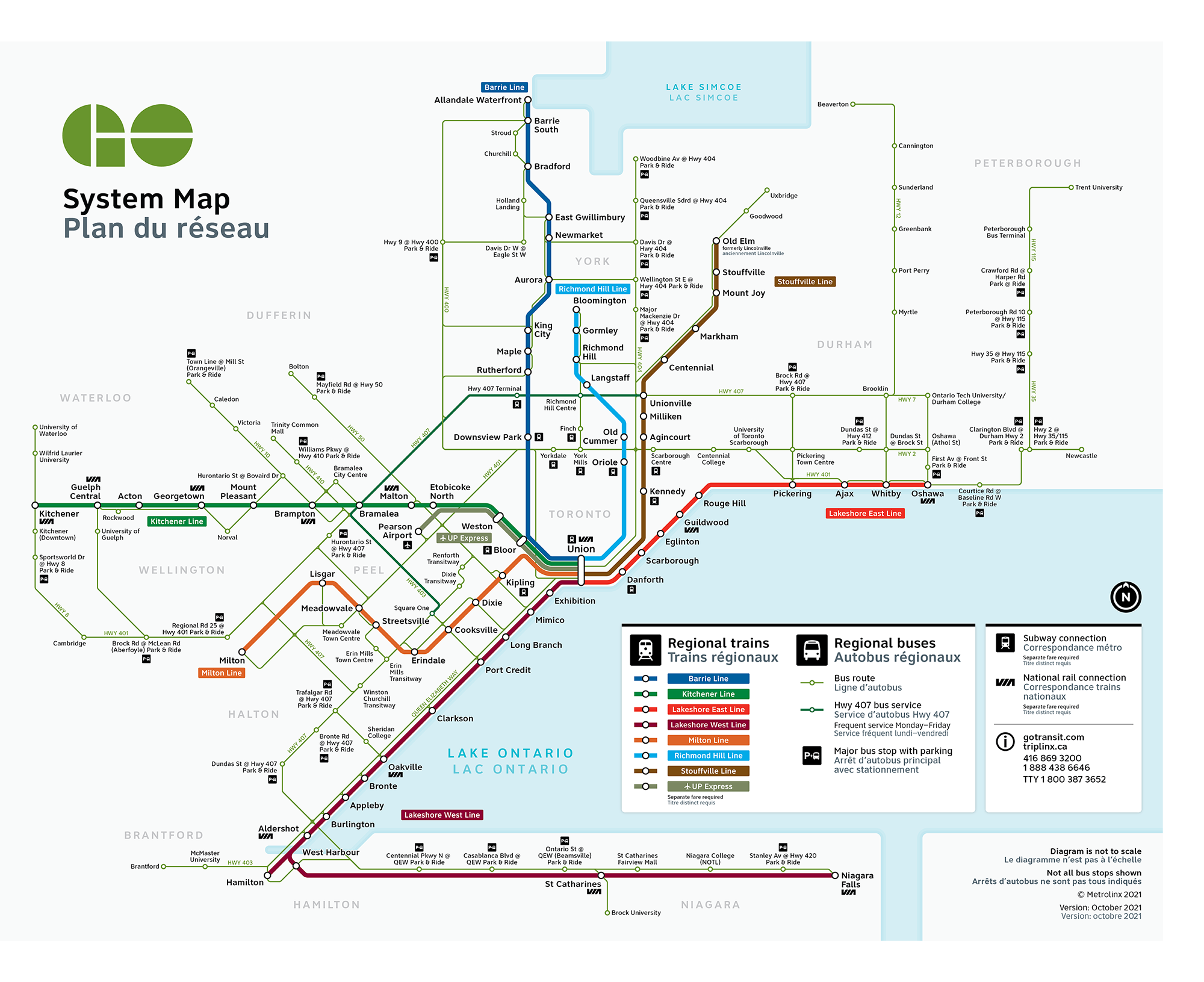 GO Transit large system map