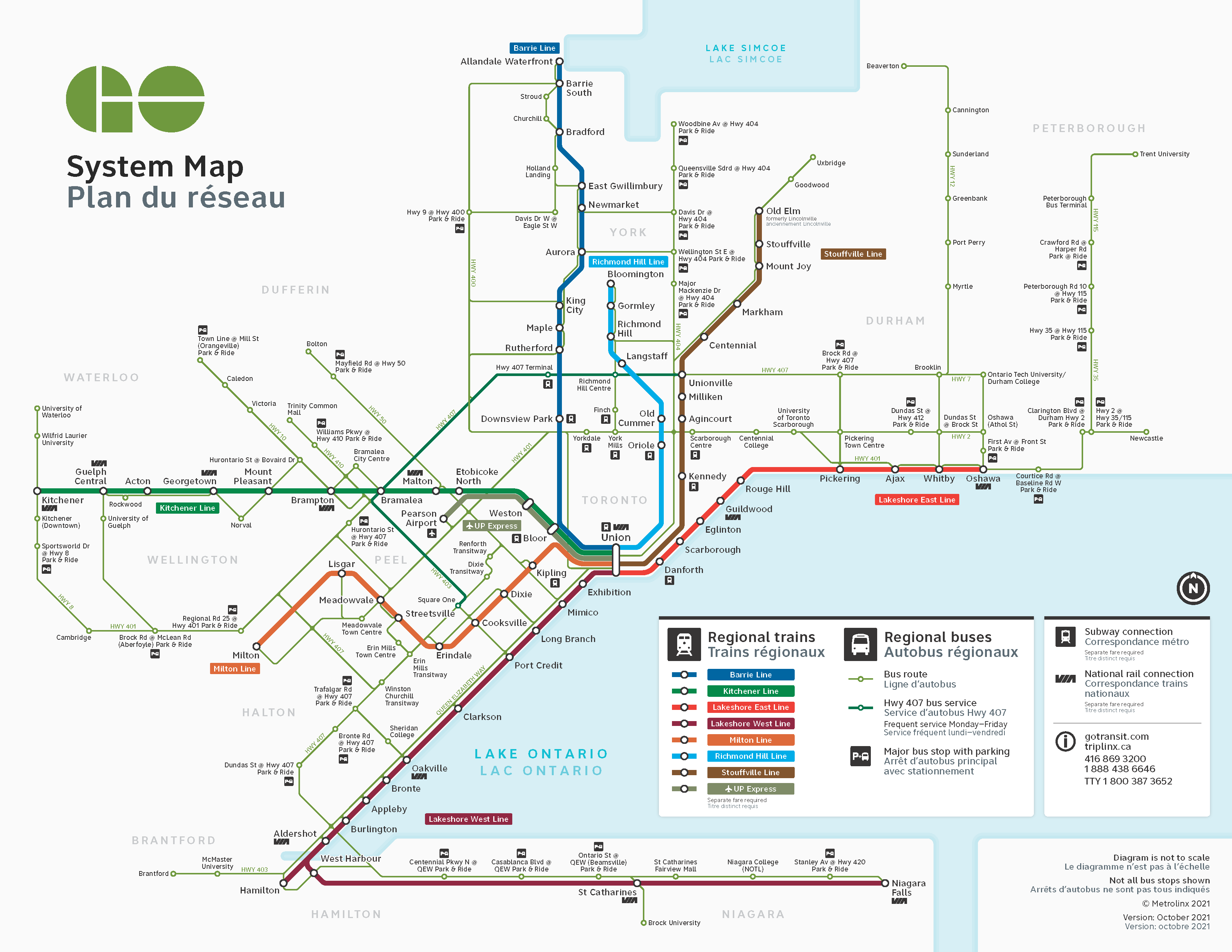Subway Map Of Park Slope.System Map Trip Planning Go Transit