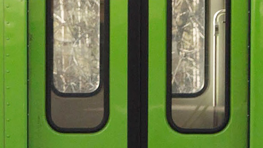 "Photo of GO Train doors, related to the ""a true gentleman"" story."