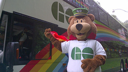 GO Bear at the Pride Parade (2016)