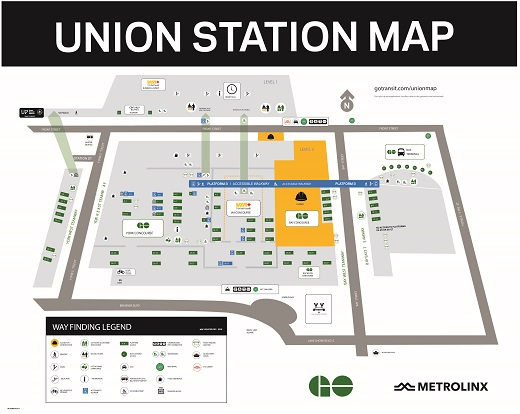 Map of Union Station.