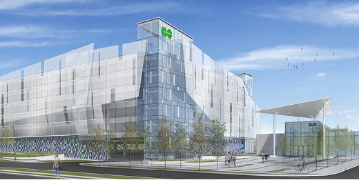 Rendering of new parking structure