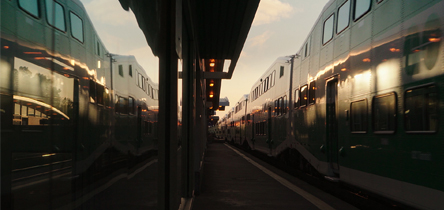Two GO trains