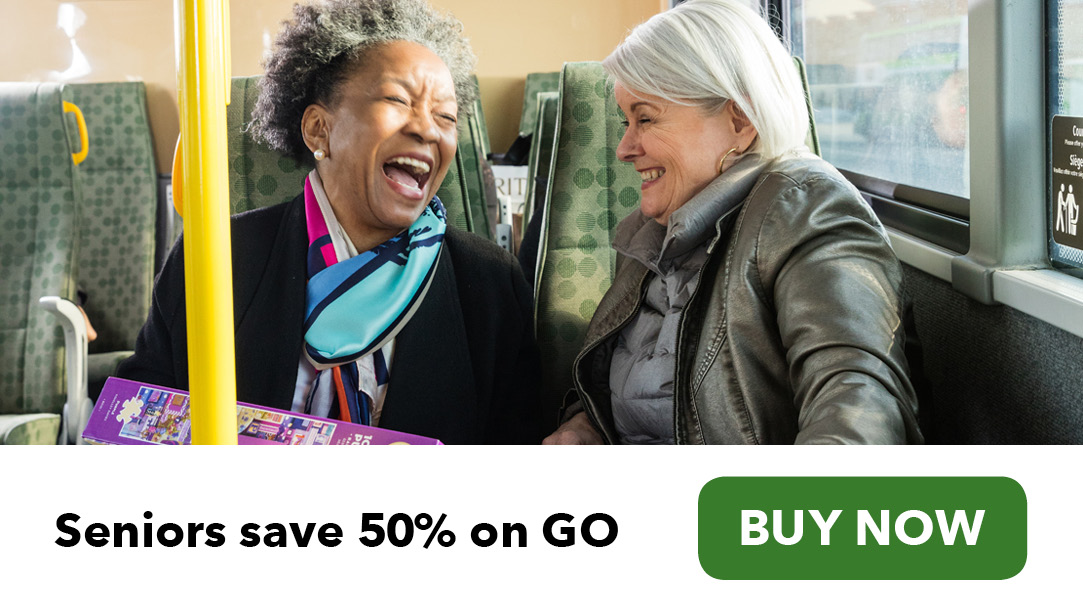 Seniors shopping GO Transit e-tickets now available buy now