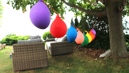 Water balloon pinata game