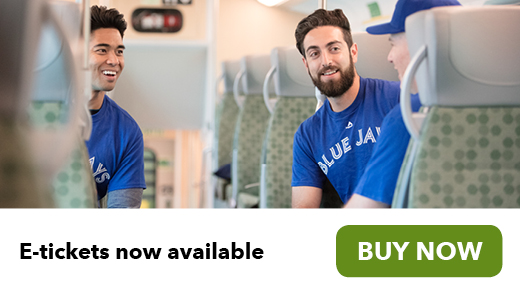 Blue Jays fans riding GO Train E-tickets now available for GO Transit Buy Now