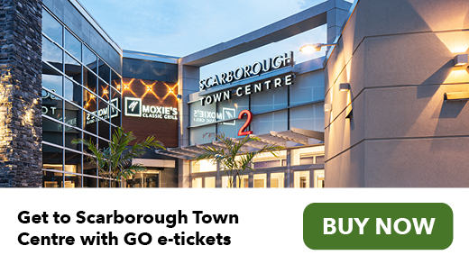 Get to Scarborough Town Centre with GO e-tickets. Buy now.