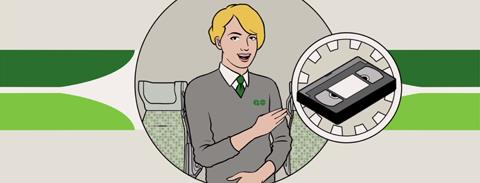 Illustration from the GO Transit Etiquette Campaign
